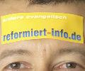 Aufkleber wirbt f�r reformiert-info